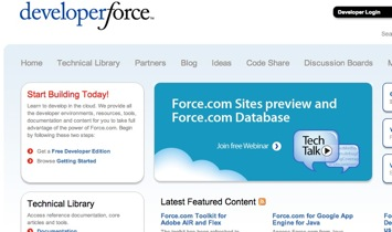 Salesforce's Developer Force Website uses Force.com Sites