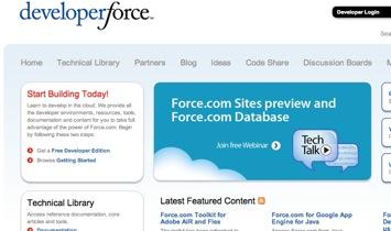 Salesforce's Developer Force Website uses Force.com Sites