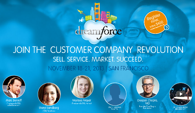 Salesforce.com's Dreamforce 2013 conference