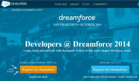 developers discounted registration code for salesforce dreamforce 2014 conference pass