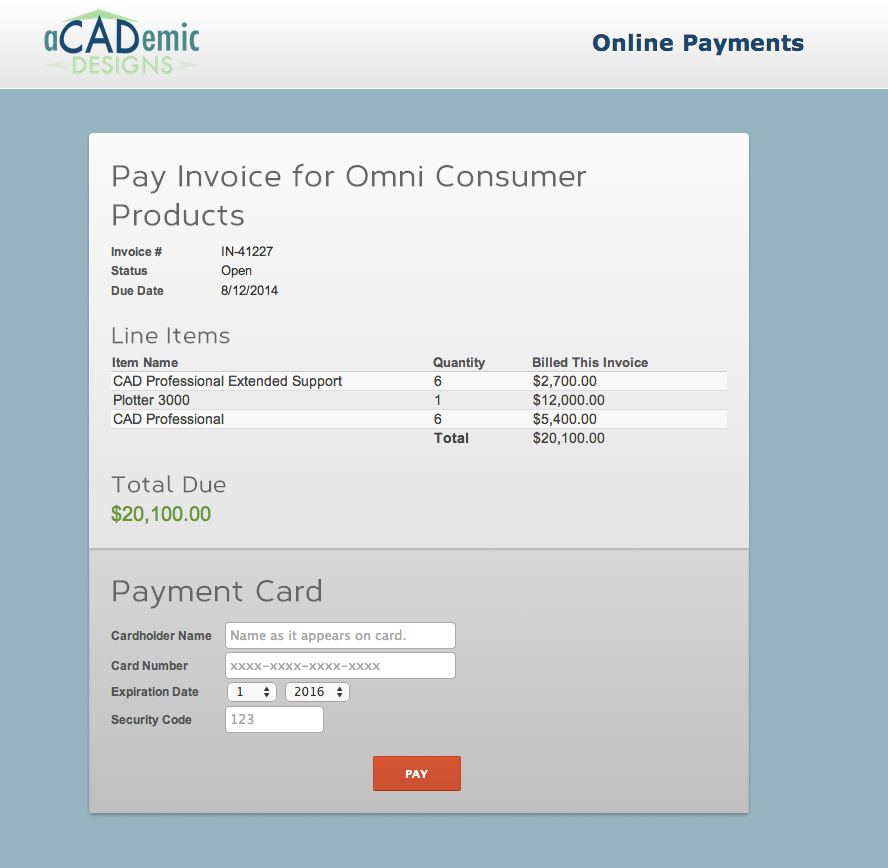 use salesforce for online payments