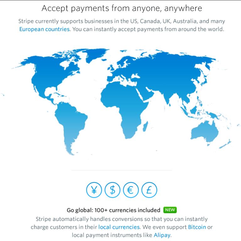 accept stripe international payments in salesforce