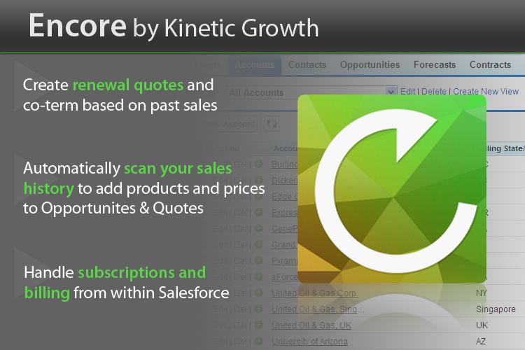 Encore - Salesforce renewal management & subscription billing